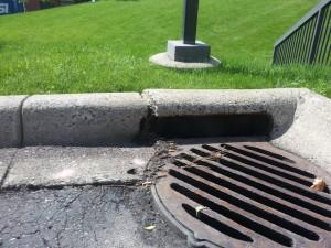 Storm sewer repair before