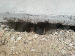 Apron Foundation Damage