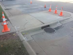 Sidewalk Curb Drain